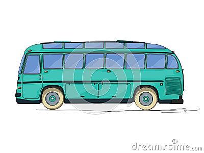 Vintage bus cartoon