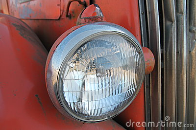 Vintage bus headlamp
