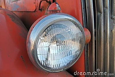 Vintage bus headlamp