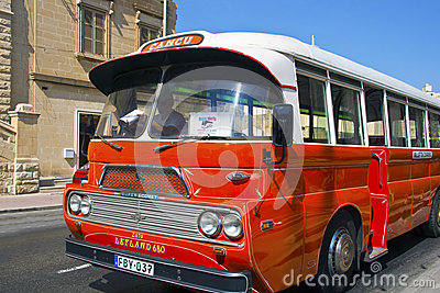 Vintage bus in Malta. Editorial Stock Image