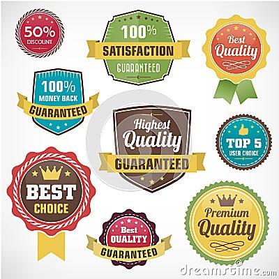 Vintage  business badge labels set