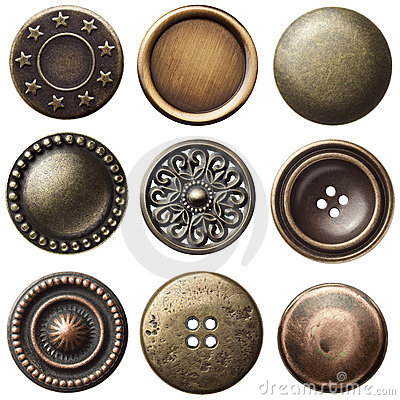 Free Vintage Buttons Royalty Free Stock Photos - 21693058