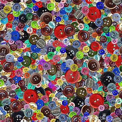 Free Vintage Buttons Seamless Pattern Stock Photography - 12400852
