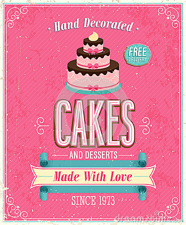 Vintage Cakes Poster.