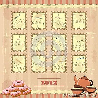 Vintage calendar 2012