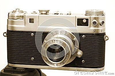 Vintage Camera 3 On Tripod