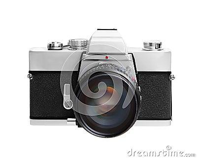 Vintage camera isolated on white background DSLR