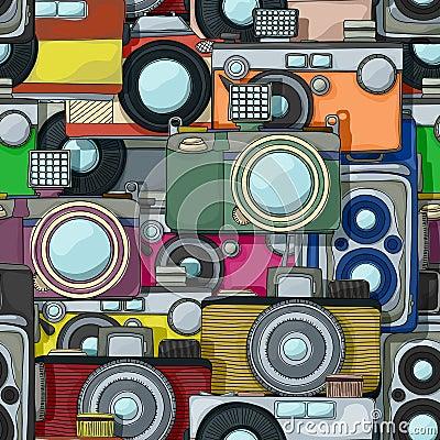 Vintage camera pattern