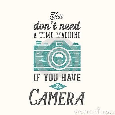 Free Vintage Camera Photography Vector Quote, Label Stock Photos - 56435733