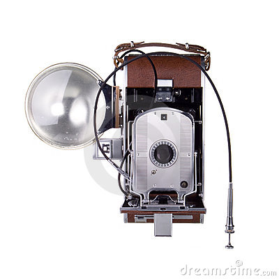 Free Vintage Camera With Flash Stock Photos - 3965423