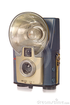 Free Vintage Camera With Flash Stock Image - 3965501