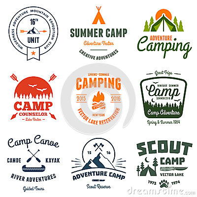 Free Vintage Camp Graphics Stock Images - 41225374