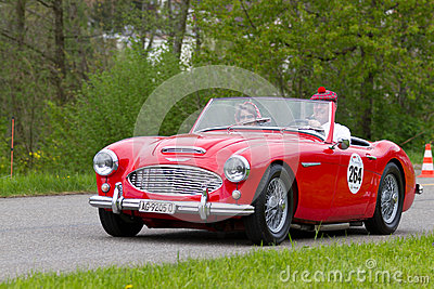 Vintage car Austin Healey 3000 MK1 from 1960 Editorial Stock Image