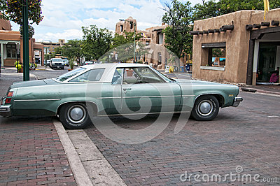 vintage car in the city of santa fe in new mexico editorial photo image 50956116. Black Bedroom Furniture Sets. Home Design Ideas