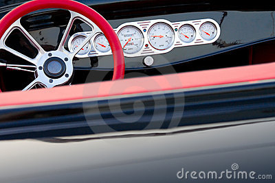 Vintage car dashboard detail