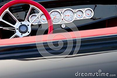 Vintage car dashboard detail