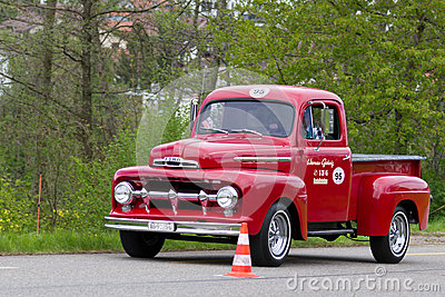 Vintage car Ford F 100 Pick-up from 1951 Editorial Image