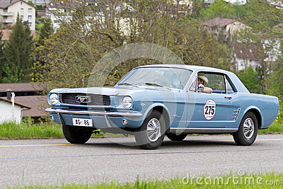 Vintage car Ford Mustang from 1965 Editorial Photography