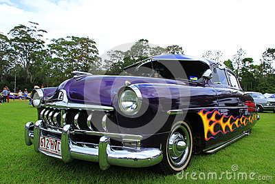 Vintage car. THE GARTERBELTS AND GASOLINE NOSTALGIA FESTIVAL Editorial Stock Image