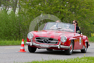 Vintage car Mercedes-Benz 190 SL from 1960 Editorial Image