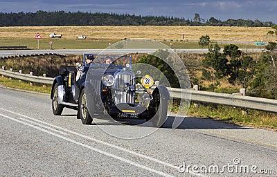 Vintage car rally Editorial Stock Photo