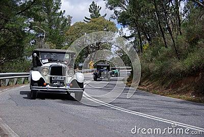 Vintage Car Run Editorial Stock Photo