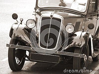 Vintage Car in sepia tone