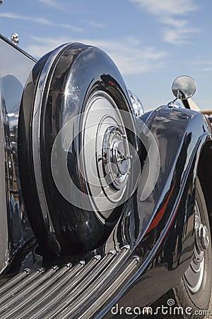 Vintage car side view details
