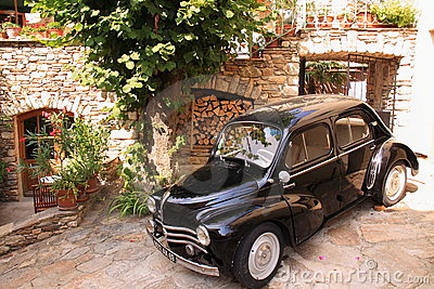 Vintage car in the street