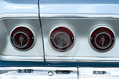 Vintage car tail lights