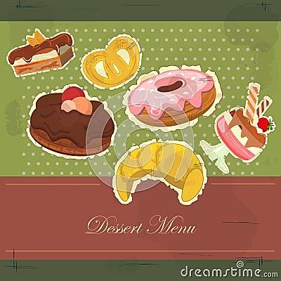 Vintage card with dessert