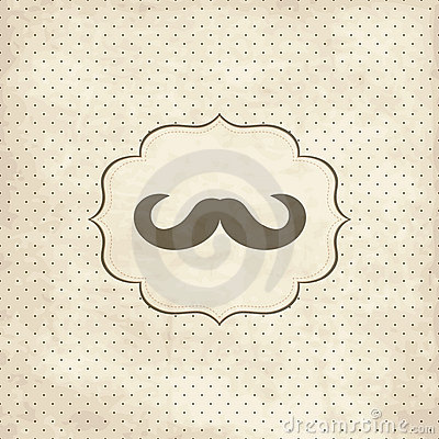 Free Vintage Card With Mustache Stock Image - 19685001