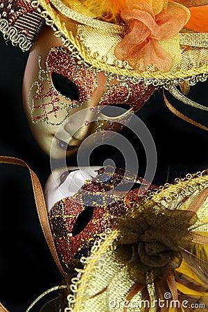 Vintage carnival masks