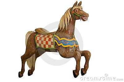 Vintage carousel horse isolated