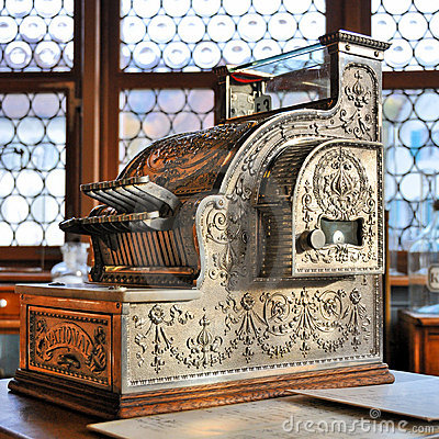 Vintage Cash Register Royalty Free Stock Images - Image: 12757609