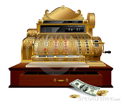 Vintage Cash Register Stock Photo Image 13625240