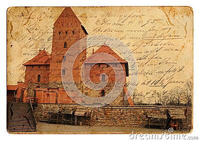 Vintage castle postcard