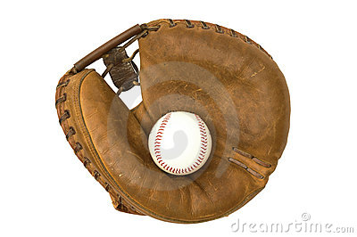 Vintage Catcher s Mitt And Ball