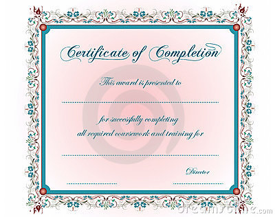 A vintage Certificate