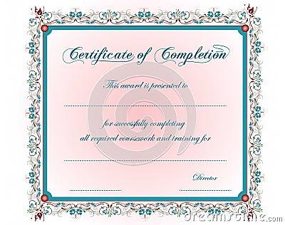 A vintage Certificate