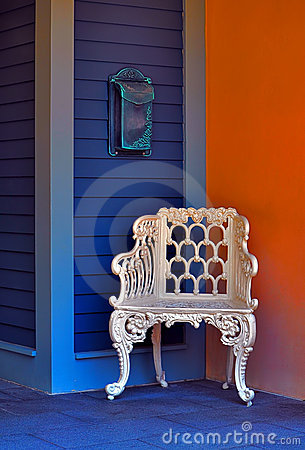 Vintage chair & mailbox