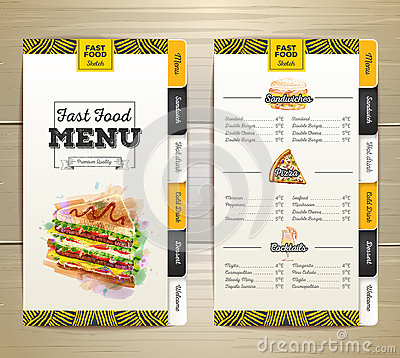 Vintage chalk drawing fast food menu. Sandwich sketch Vector Illustration
