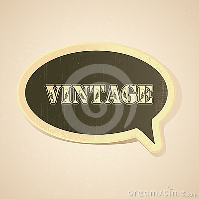 Vintage Chat Bubble