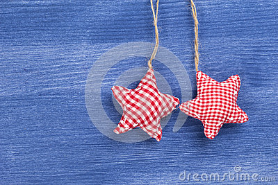 Vintage checkered christmas decoration