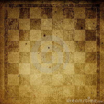 Vintage chess-board background.