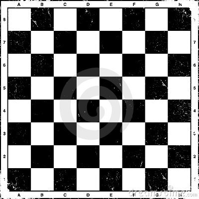 Vintage chess board, vector.