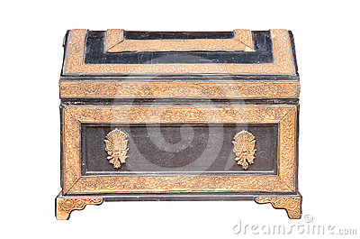 Vintage chest isolated on white