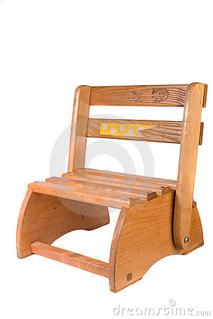Childs Wooden Step Stool Chair