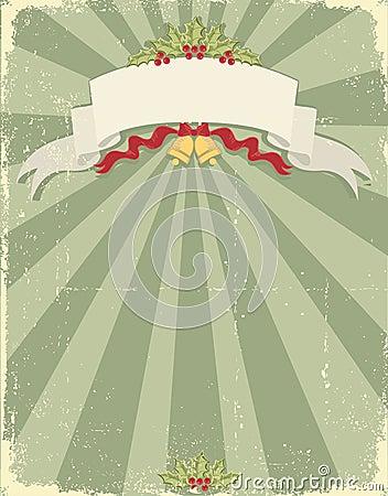 Vintage christmas background for design