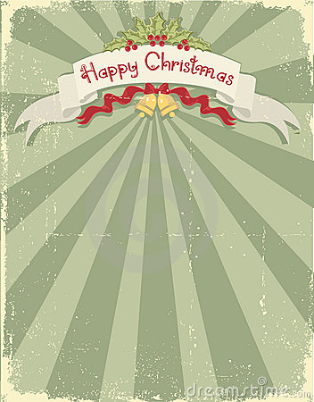 Vintage christmas background for design